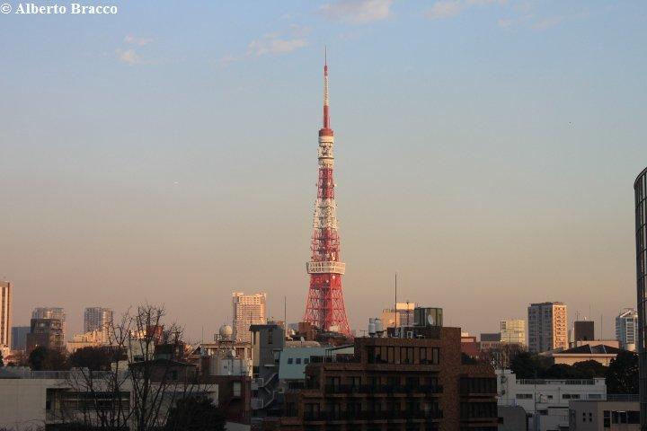 La Tokyo Tower al tramonto
